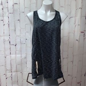 Tangerine Black Loose Athletic Tank Top Pocket XL